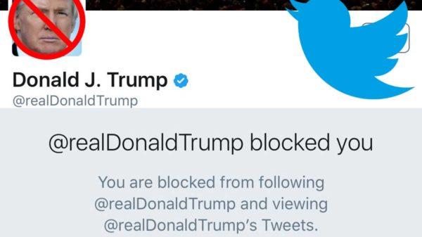 @realDonaldTrump blocked